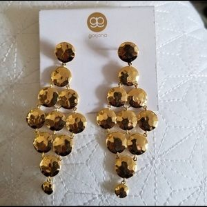NWT Gorjana Gold Hammered Gypset Tiered Earrings